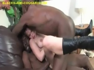 Black DP for Hot Blonde Cougar free