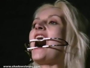 Sexy blonde Wynters extreme piercing punishments and nipple tortured slave...