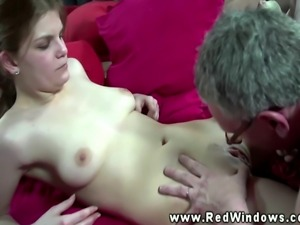 Real euro babe sucked then fucked by this lucky guy