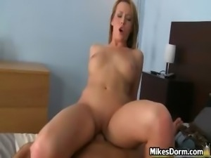 Sexy blonde bitch shows her firm tits part3