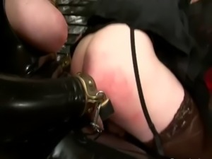 Sissified loser gets slammed with strapon free
