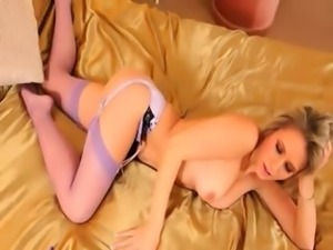 titty blonde in my bedroom