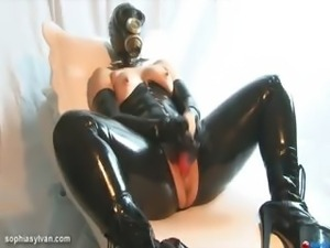 Latex & Gas Mask Orgasm