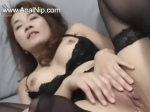Asian sex from Tokyo in a bedroom room