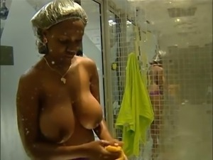 HUGE TITS: Annabel 'Big Brother Africa' Shower OMG! - Ameman