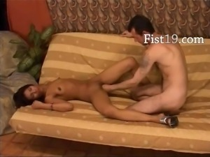 copulating and fisting between lovers