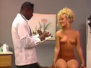 Horny doctor takes a close look at sexy blonde patient