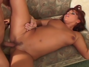 A feisty performance by a young 19 year old natural slut, who goes down her...