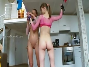 18yo russian girls playing with toys