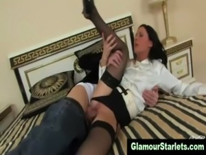 Sexy stockings bitch gets fucked free