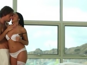 brunet fucking in the bedroom