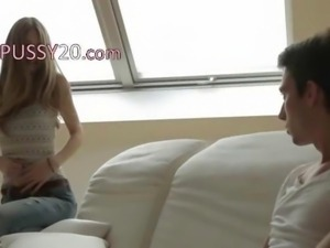 Exclusive babe Anjeliva enjoying loving