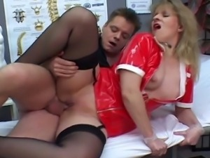 Kinky mature nurse nailed hard