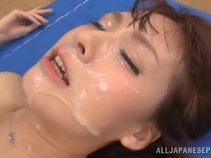 japanese girl gets load of cum