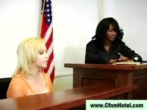 Cfnm femdom judge punishes young man free