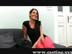 Sexy Spanish amateur fucks in casting