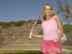 Sportive Brianna Love enjoys both tennis and penis