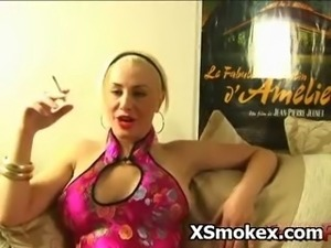 Perky Titty Chick Smoking Sex