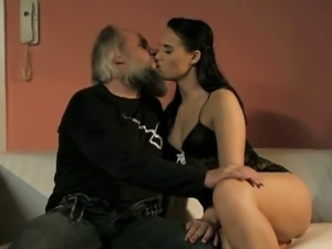 Lucky old man gets a blowjob