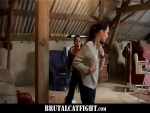 Lady boss and lady maid CatFight free