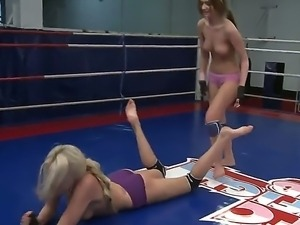 Ava and Danielle Maye are having catfight session wich makes them horny