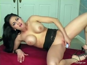 Audrey Bitoni is a dark haired lovely babe with huge