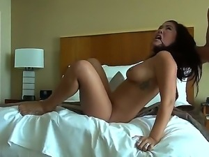 Asian hottie London Keyes manages to deep suck and fuck Manuel Ferraras huge...