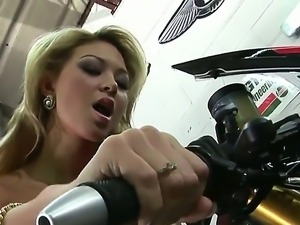 Marvelous blonde babe Natalie Forrest is getting even hornier on camera