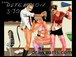 The exciting BDSM art of G-Man features beautiful women