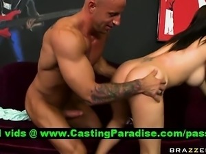 Jenna Presley busty brunette riding huge cock