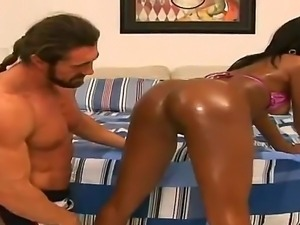 Rane Revere and Reno in wild interracial hardcore porn scene which makes them...