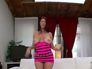 Huge tits babe Tiffany Mynx gets her tight ass destroyed by a huge ass toy