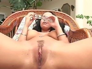 Laura Lion inspires us with her perfect succulent pussy and perfectly round...
