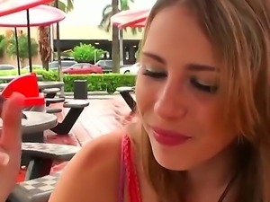 Perverted blonde is never against to have some sex fun with stranger guys for...