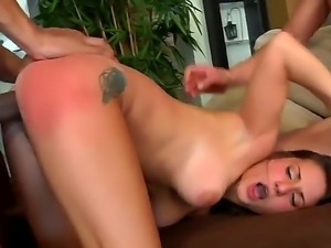 The prepossessing creamy skinned brunette whore Joana gets fucked hard by...