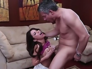 Huge tits babe Alksa Nicole gets ravaged by hunk with hard dick Mick Blue