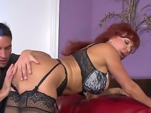 Kris Slater enjoys having a wild hardcore sex session with mature redhead...