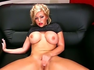 Enjoy glamourous hot blonde slut Kate Hunter with big juicy watremelons...