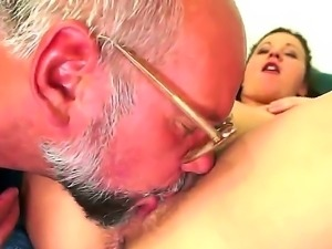 Take a look at precious and pervrted whore Hadjara licking old balls