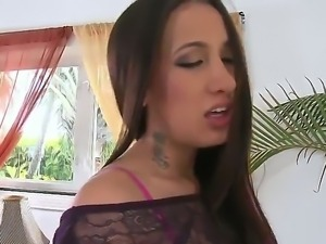 Gorgeous Amia Miley is seducing handsome Brannon Rhodes with her lusty pussy...