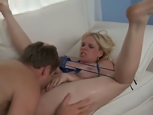 Mature blonde Cameron Keys loves to please Levi Cash with amazing blowjob and...