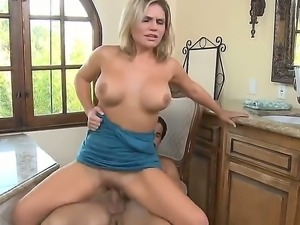 Hot stud Talon ravages blonde Cameryn Coxxxs tight and wet little shaved cunt