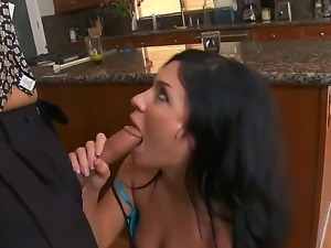Andy San Dimas is delighting Michael Stefanos long pecker with her tenacious...