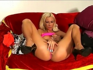 Angelina Love is a real dynamite, because she knows how to strip and make a...