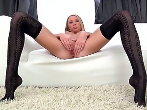 Hardcore and sexy babe Olli shows her gorgeous body and masturbates