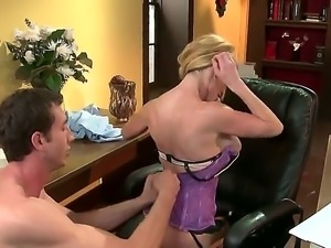Blonde with huge tits Tasylor Wane gets a hard pounding from hunk Jordan Ash