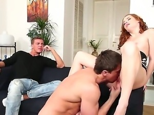 Threesome bisexual fuck with Alex Monetti, Aslan Brutti and Denisa Heaven
