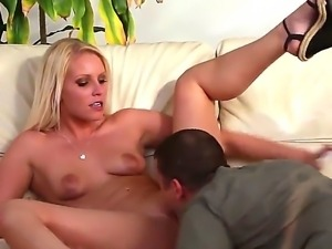 Mighty stud Mr. Pete skewers nice girls with blonde hair Vanessa Cage on his...