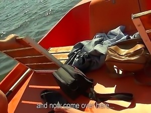 Get hard and start jerking off witnessing this cool action on a boat. Beauty...