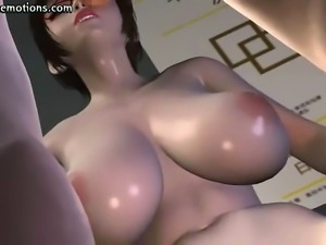 Horny animated slut getting cunt pounded fast